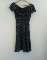 Italian Vintage Floral Dress Size S - Very Good Condition