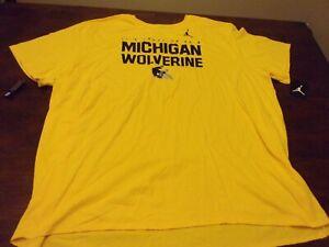 Michigan Wolverines NEW mens NIKE tee 4xl college football yellow t shirt NCAA