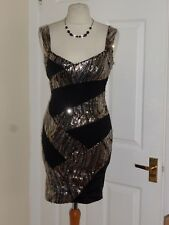 JANE NORMAN PARTY BODYCON SEQUIN DRESS SIZE UK 10 WEDDING EVENING