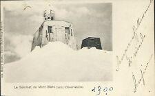 Monte Bianco L'Osservatorio Observatoire Val d'Aosta Viaggiata 1900 circa
