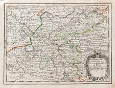 1719 - Carte ancienne ILE DE FRANCE - PARIS - Par CHIQUET - gravure antique map