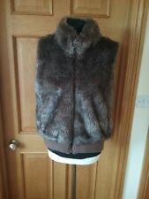 Ladies Faux Fur Gilet Bodywarmer Size 16