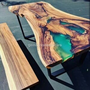 Handmade Table Magg Wood Epoxy Resin, Dining Kitchen Table, Home Design Decor