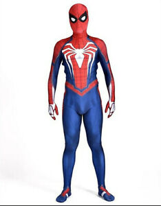 Kids Adults PS4 Spider-Man Superhero Cosplay Costume Jumpsuit Party Fancy Dress