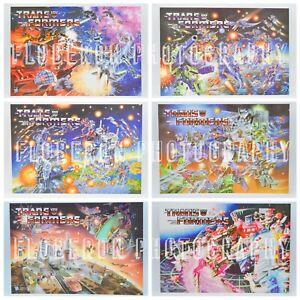 Transformers G1 Posters Hasbro licensed Artwork S1-4
