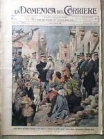 La Domenica del Corriere 10 Gennaio 1909 Terremoto Calabria e Sicilia Riza Tosti