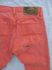 DENIM SUPPLY Ralph Lauren neon orange distressed patchwork slim jeans 30 32