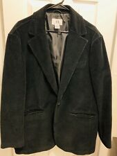 Armani Exchange A|X Men's Corduroy Black Blazer Sport Coat Jacket Size LARGE