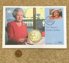 More details for 2002 $1 coin fdc sierra leone queen elizabeth golden jubilee gibraltar stamp