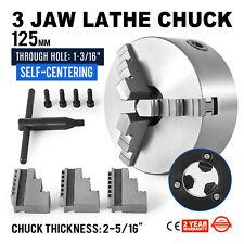 "5"" 3 Jaw Scroll Lathe Metal Chuck Self-Centering Milling Machine Lathe Chuck CNC"