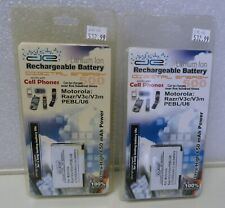2 x Digital Energy Motorola Battery Razr V3c V3m PEBL U6 Lithium Ion BATMOTV3