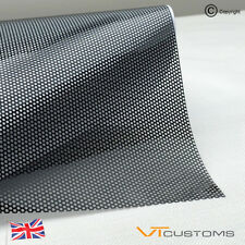 90CM x 106CM Headlight Tint Perforated Film Mesh Like Fly Eye MOT Legal Tinting