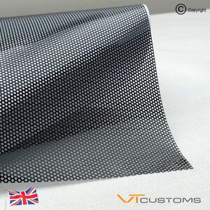 40CM x 106CM Headlight Tint Perforated Film Mesh Like Fly Eye MOT Legal Tinting