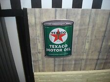 SIGN -TEXACO MOTOR OIL - QT CAN -  Metal Construction - 1/18 Scale Diorama