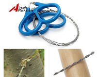 Outdoor Steel Wire Saw Scroll Emergency for Hunting Camping Hiking Survival Tool