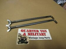 """Jeep Willys MB GPW CJ2A Battery """"J"""" Bolts A-1164 US MADE G503"""