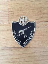 ITALIAN WWII FASCIST UNIFORM ARMSHIELD SCUDETTO MVSN MILIZIA CONTROAEREI FLAK