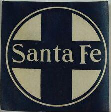 1890's Vintage Poster Stamp Luggage Label Santa Fe Fabulous! F87