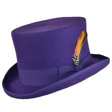 Top Hat High Quality Navy Black Brown Burgundy Olive White Purple 100% Wool Felt