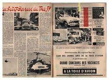1959 DOCUMENT (ref Lim 0558) TOUR DE FRANCE CYCLISTE CARAVANE MEDICAL ASPRO  2 p
