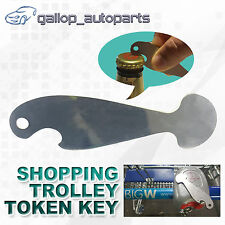 No Coin Retractable Shopping Trolley Token Key Aldi Coles Safeway Bottle Opener