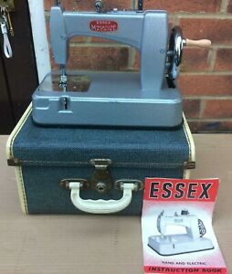 Essex MK2 miniature/toy chain stitch sewing machine and instruction manual