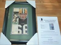 BECKETT RAY NITSCHKE PACKERS & DICK BUTKUS BEARS DUAL SIGNED FRAMED PHOTO A26368