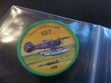 1961 JELL-O HOSTESS AIRPLANE SERIES COIN #137 1936 WACO  HIGH GRADE