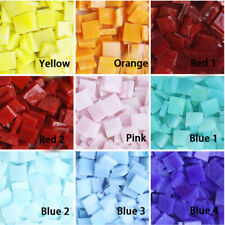 270 Pieces 10x10mm 200g Stained Glass Mosaic Tiles / Mosaics Art DIY Material