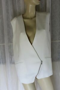 SIZE 36 IRO WHITE SLEEVELESS VEST JACKET 🐊 BEST BUY DESIGNER CLOTHES