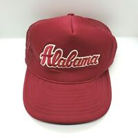 Alabama University Hat Mesh Vintage Trucker Cap Red Crimson White Foam Roll Tide
