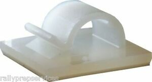 Self-Adhesive Nylon Clips Fasteners for Wire, Cable, Conduit, etc VARIOUS SIZES