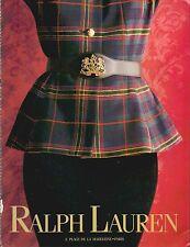 ▬► PUBLICITE ADVERTISING AD Ralph Lauren 5 pages  1991
