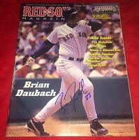 Brian Daubach Boston Red Sox Autograph Signed Official Red Sox Magazine