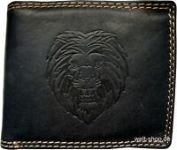 Hochwertige Geldbörse Geldbeutel Portemonnaie Wasserbüffel Leder Löwe Motiv