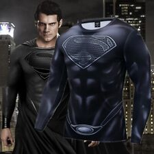 Superman Men T-Shirt 3D Printed Short Sleeve Fitness Cosplay Gym Sports New Tops