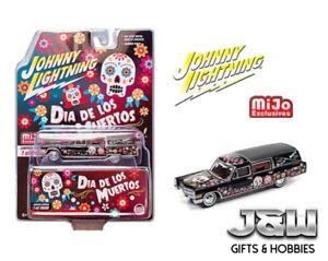 Johnny Lightning Cadillac Hearse 1966 Dia De Los Muertos 2021 JLCP7373 1/64