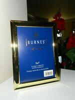 Burnes State Street Solid Brass Lacquer Coated Picture photo Frame 5 x 7 NEW