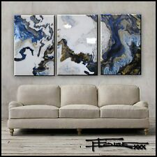 Abstract Painting Modern Canvas Wall Art, 3 piece, Framed, Signed, US ELOISExxx