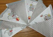 Handmade Disney Dumbo Bunting Grey Nursery Bunting Baby Shower Fabric Banner