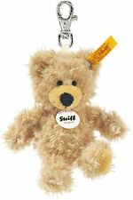 More details for steiff 12cm keyring charly teddy bear (beige)