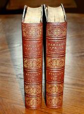 1890 1st Ed HENRY STANLEY Darkest AfricaRare Antique Leather Books Book Set