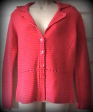 Talbots Women Red Cardigan Sweater 100% Mercerized Cotton Size S