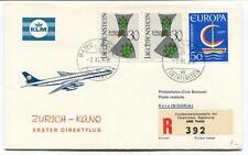 FFC 1966 Royal Dutch Airlines First Direct Flight Zurich Kano Nigeria REGISTERED
