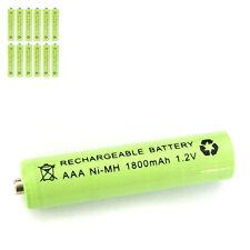 12 pcs AAA 3A 1800mAh 1.2V Ni-MH rechargeable battery Solar Light MP3 RC Green