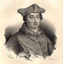Grand Portrait de Antoine Duprat - Lithographie originale XIXème