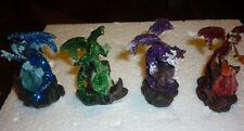 SET 2 DRAGHI CRISTALLI gemme DRAGO dragone soprammobile fantasy gotico modellino