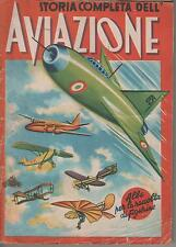 STORIA COMPLETA DELL' AVIAZIONE Lampo 1952 completo cards album CPL 372 / 372