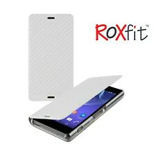 Roxfit Premium Book Case fr Sony Xperia Z3 Compact Slim Wallet Card Pocket Cover