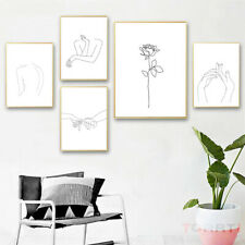Abstract Women Lines Drawing Nordic Poster Modern Canvas Painting Bedroom Decor